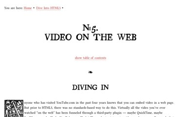 http://diveintohtml5.info/video.html
