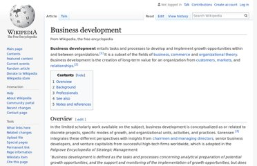 http://en.wikipedia.org/wiki/Business_development