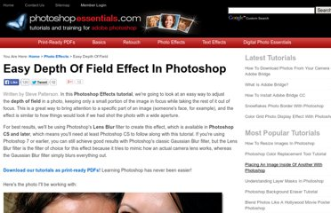http://www.photoshopessentials.com/photo-effects/depth-of-field/