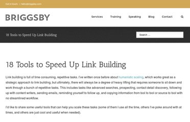 http://justinbriggs.org/18-tools-to-speed-up-link-building