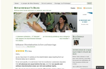 http://ritachemaly.wordpress.com/2011/01/04/lebanese-discrimination-in-love-and-marriage/