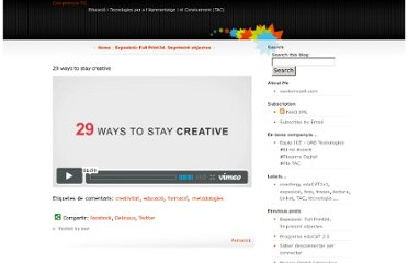 http://xavierrosell.blogspot.com/2011/06/29-ways-to-stay-creative.html
