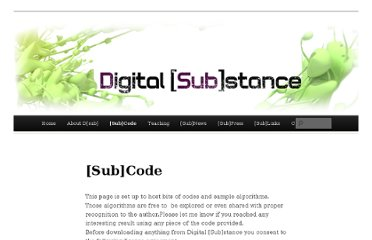 http://digitalsubstance.wordpress.com/subcode/