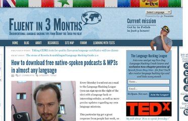 http://www.fluentin3months.com/free-podcasts/