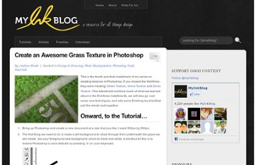 http://www.myinkblog.com/create-an-awesome-grass-texture-in-photoshop/