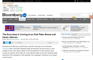 http://www.bloomberg.com/news/2011-11-28/the-euro-area-is-coming-to-an-end-peter-boone-and-simon-johnson.html