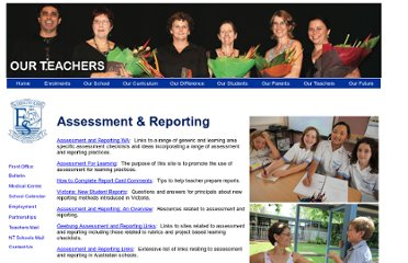 http://www.essington.nt.edu.au/teachers_zone/assessment_reporting.htm