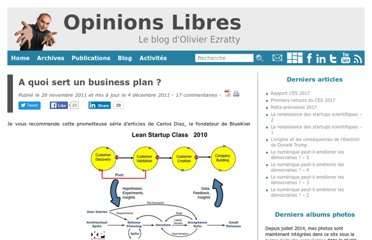 http://www.oezratty.net/wordpress/2011/a-quoi-sert-un-business-plan/