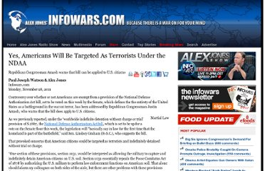 http://www.infowars.com/yes-americans-will-be-targeted-as-terrorists-under-the-ndaa/