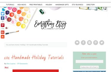 http://www.everythingetsy.com/2011/10/101-handmade-holiday-tutorials/