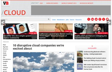 http://venturebeat.com/2011/11/28/10-up-and-coming-cloud-companies/