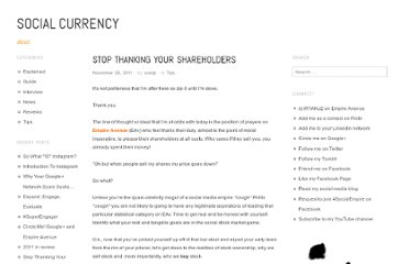 http://roisucks.wordpress.com/2011/11/28/stop-thanking-your-shareholders/