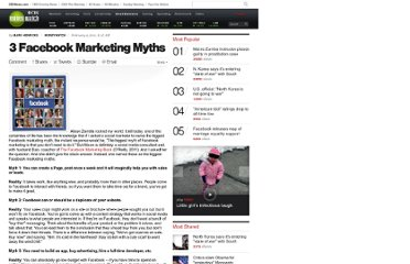 http://www.cbsnews.com/8301-505143_162-46240705/3-facebook-marketing-myths/