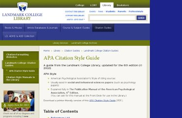 http://www.landmark.edu/Library/citation_guides/apa.cfm