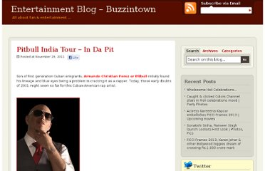 http://blog.buzzintown.com/2011/11/pitbull-india-tour-in-da-pit/