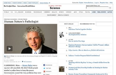 http://www.nytimes.com/2011/11/29/science/human-natures-pathologist.html