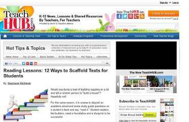 http://www.teachhub.com/reading-lessons-scaffold-texts
