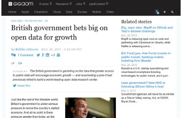 http://gigaom.com/2011/11/29/british-government-bets-big-on-open-data-for-growth/