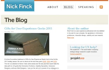 http://www.nickfinck.com/blog/entry/gifts_for_user_experience_geeks_2011/