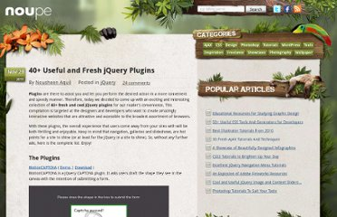 http://www.noupe.com/jquery/40-useful-and-fresh-jquery-plugins.html