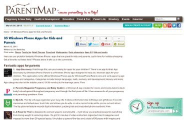 http://www.parentmap.com/article/30-windows-phone-7-apps-for-kids-and-parents