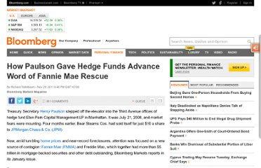 http://www.bloomberg.com/news/2011-11-29/how-henry-paulson-gave-hedge-funds-advance-word-of-2008-fannie-mae-rescue.html