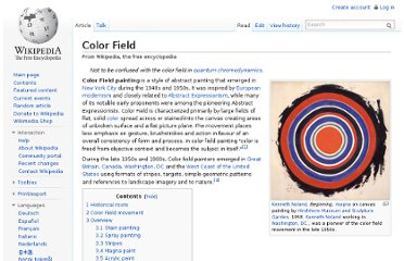 http://en.wikipedia.org/wiki/Color_Field