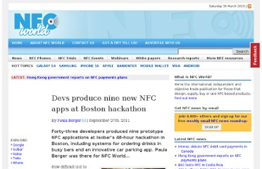 http://www.nfcworld.com/2011/09/27/310183/devs-produce-nine-new-nfc-apps-at-boston-hackathon/