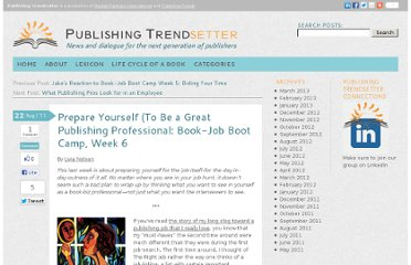 http://publishingtrendsetter.com/professionalpaths/prepare-yourself-to-be-a-professional/