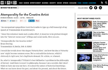 http://www.wired.com/beyond_the_beyond/2010/02/atemporality-for-the-creative-artist/