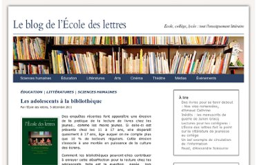 http://www.ecoledeslettres.fr/blog/education/les-adolescents-a-la-bibliotheque/#more-1718
