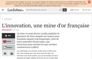 http://lecercle.lesechos.fr/economie-societe/recherche-innovation/innovation/221140602/linnovation-mine-dor-francaise