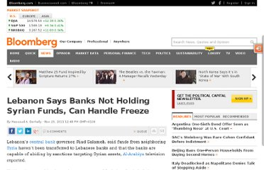http://www.bloomberg.com/news/2011-11-29/lebanon-says-banks-not-holding-syrian-funds-can-handle-freeze.html