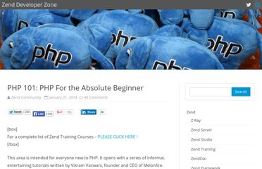 http://devzone.zend.com/6/php-101-php-for-the-absolute-beginner/