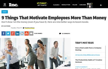 http://www.inc.com/ilya-pozin/9-things-that-motivate-employees-more-than-money.html