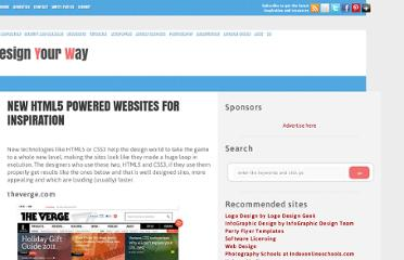 http://www.designyourway.net/blog/inspiration/new-html5-powered-websites-for-inspiration/