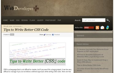 http://webdeveloperplus.com/css/tips-to-write-better-css-code/