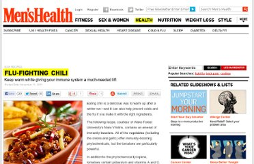 http://www.menshealth.com/health/flu-fighting-chili?cm_mmc=Facebook-_-MensHealth-_-Content-Health-_-ChiliFluDelicious