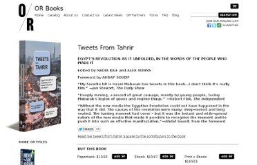 http://www.orbooks.com/catalog/tweets-from-tahrir/