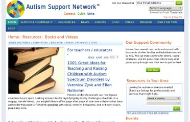 http://www.autismsupportnetwork.com/resources/teachers-educators