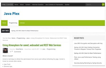 http://www.javaplex.com/blog/using-atmosphere-for-comet-websocket-and-rest-web-services/#.TtYKNXP-i8Y
