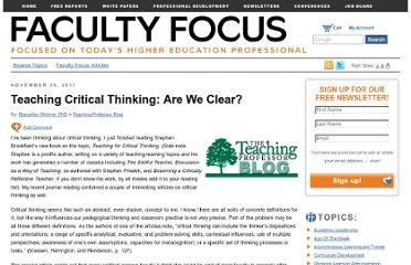 http://www.facultyfocus.com/articles/teaching-professor-blog/teaching-critical-thinking-are-we-clear/