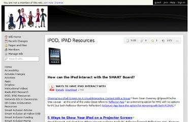 http://smartinclusion.wikispaces.com/IPOD,+IPAD+Resources