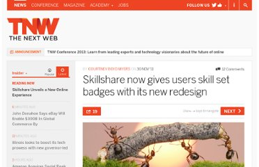 http://thenextweb.com/insider/2011/11/30/skillshare-now-gives-users-skill-set-badges-with-its-new-redesign/