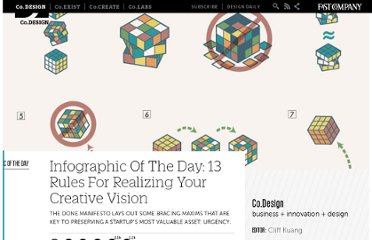 http://www.fastcodesign.com/1665527/infographic-of-the-day-13-rules-for-realizing-your-creative-vision