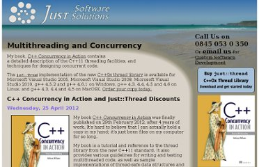 http://www.justsoftwaresolutions.co.uk/threading