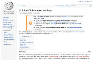 http://en.wikipedia.org/wiki/Suicide_Club_(secret_society)