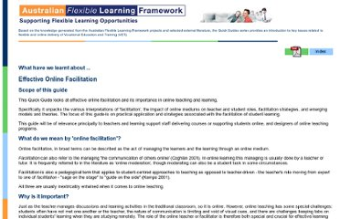 http://pre2005.flexiblelearning.net.au/guides/facilitation.html