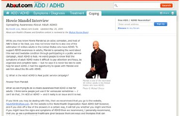 He wants people to know that the symptoms of adult ADHD make it difficult to ...