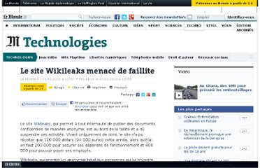 http://www.lemonde.fr/technologies/article/2010/02/01/le-site-wikileaks-menace-de-faillite_1299368_651865.html#xtor=RSS-3208